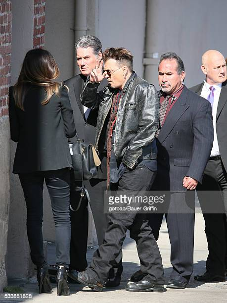 Johnny Depp is seen at 'Jimmy Kimmel Live' on May 23 2016 in Los Angeles California