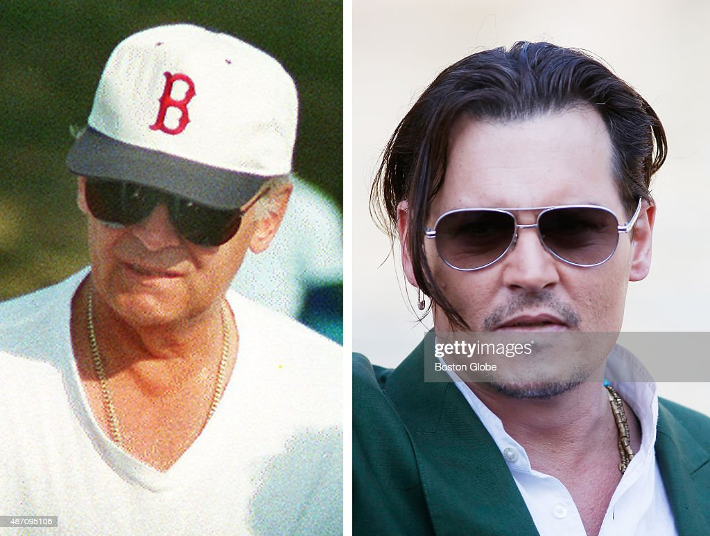 In this composite image a comparison has been made between Whitey Bulger (L) and actor Johnny Depp. Actor Johnny Depp will play Whitey Bulger in a film biopic 'Black Mass' directed by Scott Cooper. VENICE, ITALY - SEPTEMBER 04: Johnny Depp is seen on day 3 during the 72nd Venice Film Festival on September 4, 2015 in Venice, Italy.