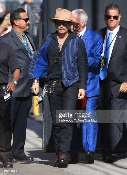 Johnny Depp is seen on May 18 2017 in Los Angeles CA