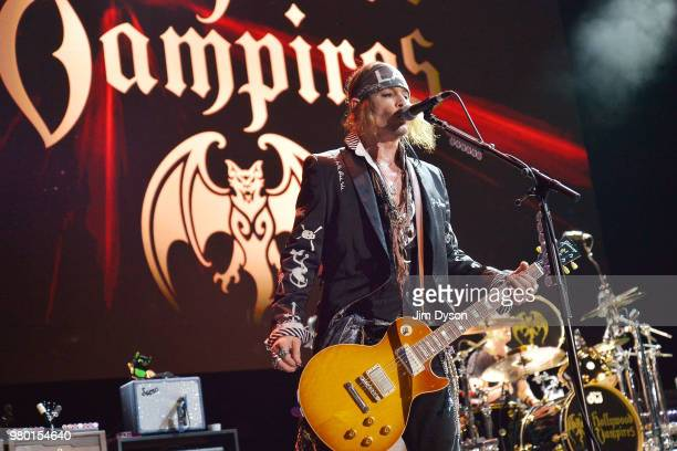 Johnny Depp of Hollywood Vampires performs live on stage at Wembley Arena on June 20 2018 in London England