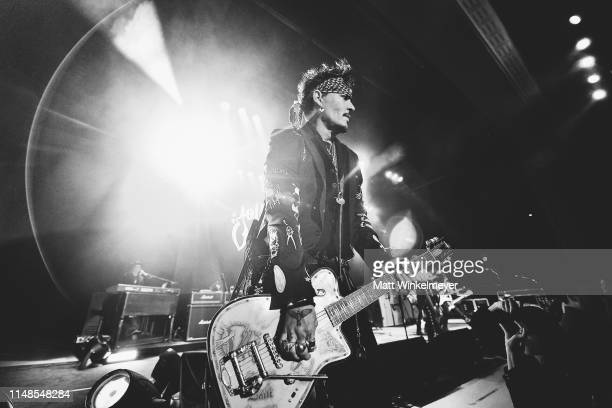 Johnny Depp of The Hollywood Vampires perform at The Greek Theatre on May 11 2019 in Los Angeles California