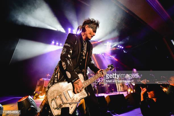 Johnny Depp of The Hollywood Vampires performs at The Greek Theatre on May 11 2019 in Los Angeles California