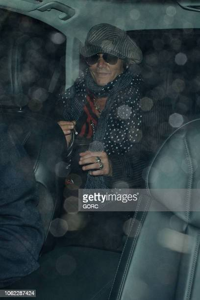 Johnny Depp seen leaving Ronnie Scotts jazz club in Soho on November 15 2018 in London England