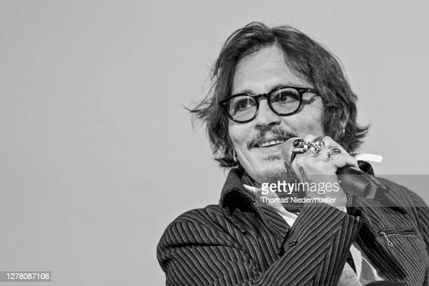 Johnny Depp speaks at the ZFF Masters during the 16th Zurich Film Festival at Arena on October 02 2020 in Zurich Switzerland