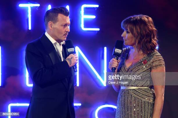 Johnny Depp speaks to Lorraine Kelly at the 'Murder On The Orient Express' World Premiere at Royal Albert Hall on November 2 2017 in London England