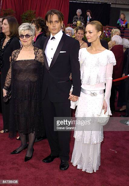 Johnny Depp, Vanessa Paradis and mother Betty Sue