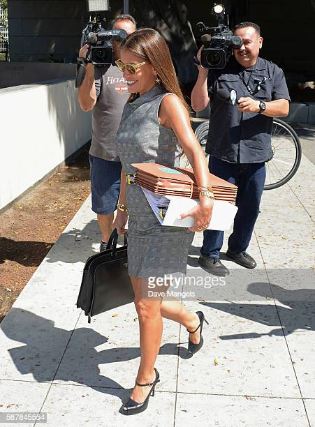 Johnny Depp's lawyer Laura Wasser departs a court appearance at Stanley Mosk Courthouse on August 9 2016 in Los Angeles California Amber Heard is...