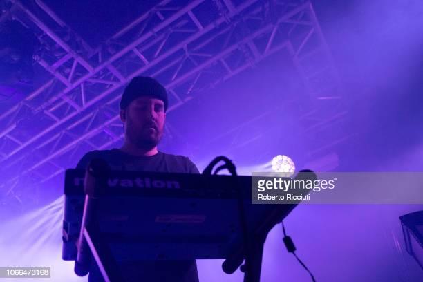 Johnny Docherty of The Twilight Sad performs on stage at The Liquid Room on November 29 2018 in Edinburgh Scotland