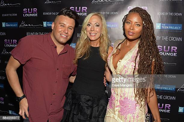 Johnny Donovan Founder of The Teen Project Lauri Burns and actress Eva Marcille attend Teen Project LA's 2016 Teen Dream at Sur Restaurant on July 28...