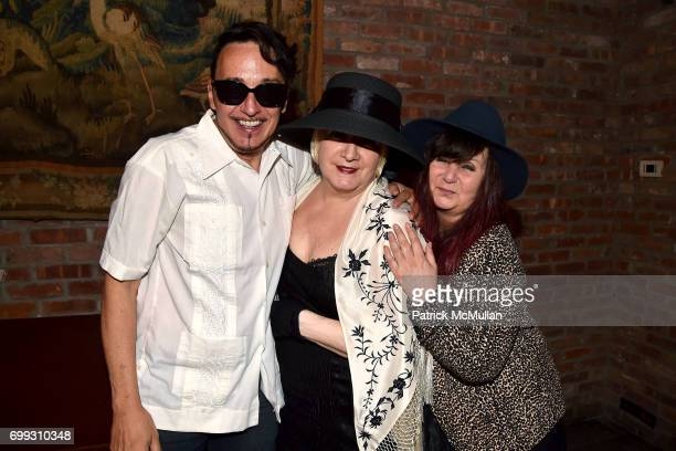 Johnny Dynell Chi Chi Valenti and Kitty Boots attend Walt Cessna ReMemory and Tribute at Bowery Hotel on June 12 2017 in New York City