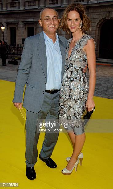 Johnny Elichaoff and Trinny Woodall arrive at the Royal Academy Summer Exhibition at the Royal Academy of Arts on June 6 2007 in London England