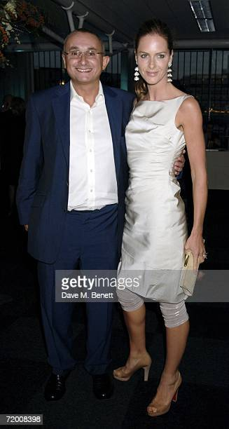 Johnny Elichaoff and Trinny Woodall attend the Fortune Forum Summit at Old Billingsgate Market on September 26 2006 in London England