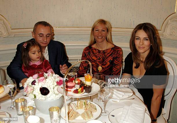 Johnny Elichaoff Tania Bryer and Elizabeth Hurley attend the launch of the Trinny Susannah Littlewoods Direct Spring/Summer Collection at Claridges...