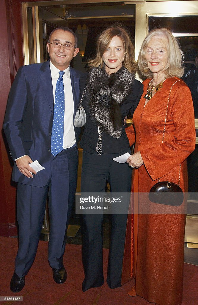 Johnny Elichaoff, TV presenter wife Trinny Woodall and her mother attend the 'Mary Poppins' Gala Preview ahead of tomorrow's press night at the Prince Edward Theatre on December 14, 2004 in London.
