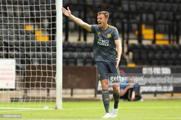 Johnny Evans of Leicester City during the preseason match between Notts County and Leicester City at Meadow Lane on July 21 2018 in Nottingham England