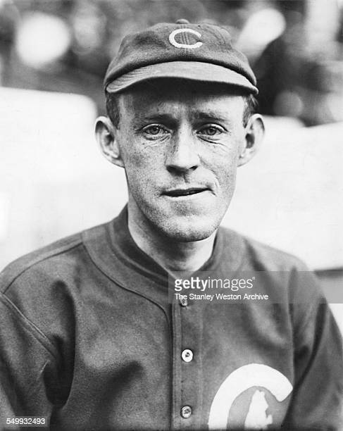 Johnny Evers of the Chicago Cubs poses for a portrait circa 1908