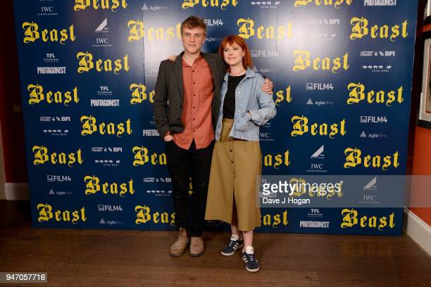 Johnny Flynn and Jessie Buckley attend a special preview screening of 'Beast' at Ham Yard Hotel on April 16 2018 in London England