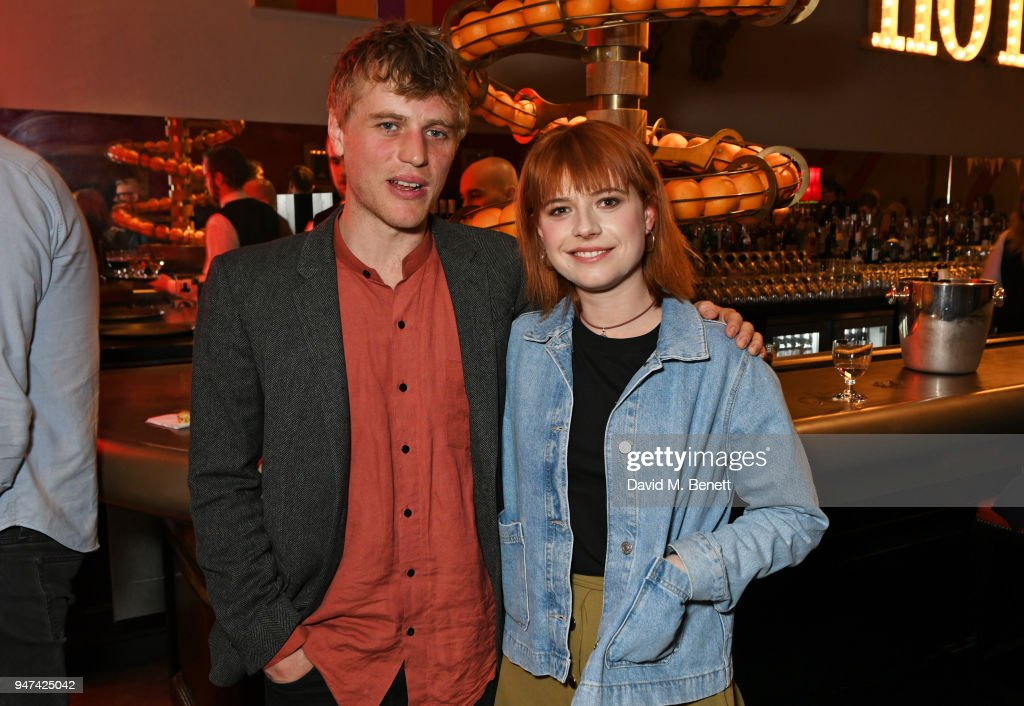 Johnny Flynn (L) and Jessie Buckley attend a special preview screening of 'Beast' at the Ham Yard Hotel on April 16, 2018 in London, England.