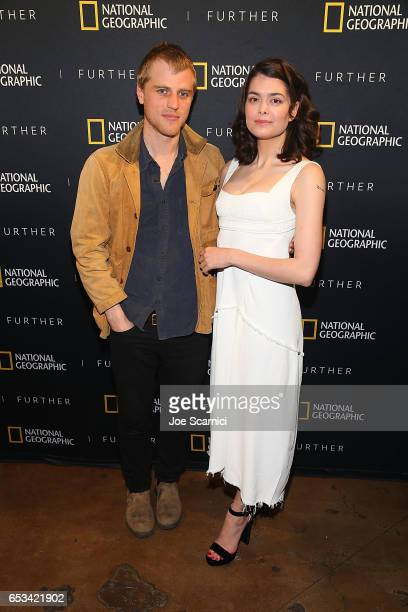 Johnny Flynn and Samantha Colley attend the 'Nat Geo Further Base Camp' at SXSW 2017 day 5 on March 14 2017 in Austin Texas