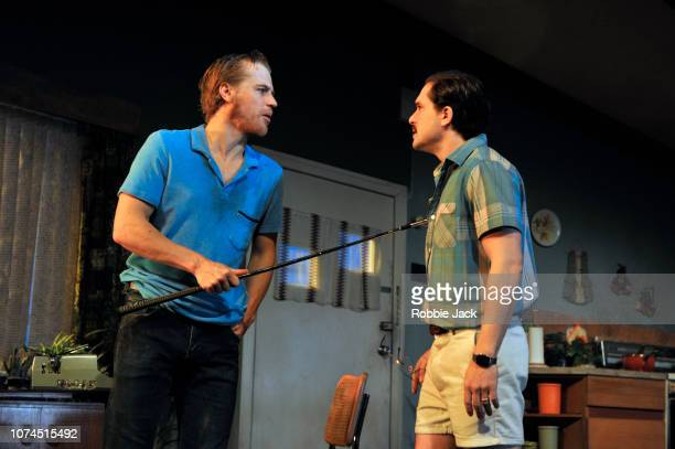 Johnny Flynn as Lee and Kit Harington as Austin in Sam Shepard's True West directed by Matthew Dunster at the Vaudeville Theatre on November 29 2018...