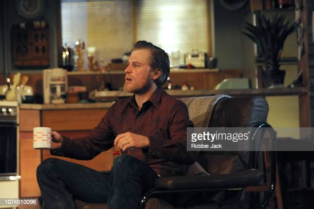 Johnny Flynn as Lee in Sam Shepard's True West directed by Matthew Dunster at the Vaudeville Theatre on November 29 2018 in London England