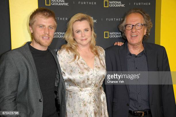 Johnny Flynn Emily Watson and Geoffrey Rush attend National Geographic FURTHER FRONT at Jazz at Lincoln Center's Frederick P Rose Hall on April 19...