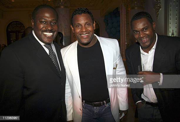 Johnny Furr, Sammy Sosa and Jose Sosa during Russell Simmons' 2nd Annual Art for Life Benefit at Mar a Lago - Day 2 at Mar a Lago in Palm Beach,...