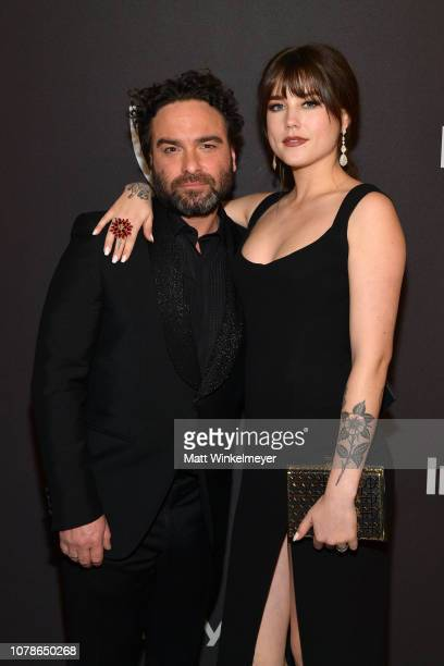 Johnny Galecki and Alaina Meyer attend the 2019 InStyle and Warner Bros 76th Annual Golden Globe Awards PostParty at The Beverly Hilton Hotel on...