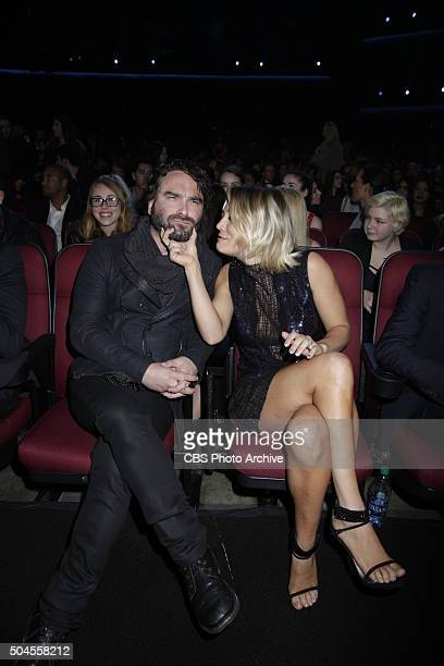 Johnny Galecki and Kaley Cuoco at the PEOPLE'S CHOICE AWARDS 2016 from the Microsoft Theater on Wednesday Jan 6 2016 on the CBS Television Network