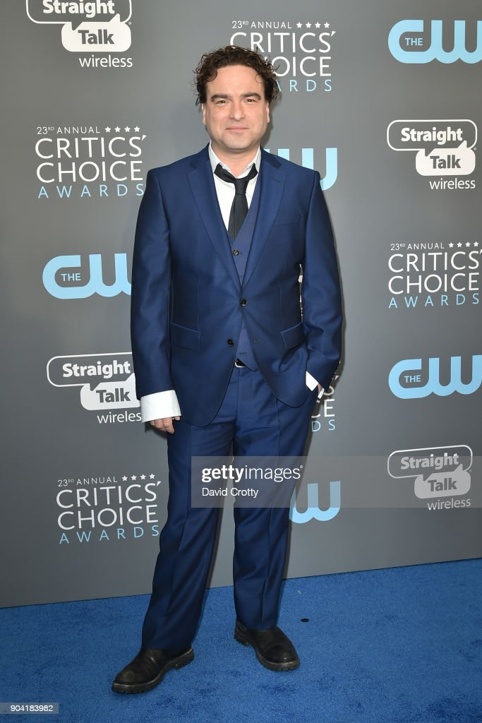 Johnny Galecki attends The 23rd Annual Critics' Choice Awards - Arrivals at The Barker Hanger on January 11, 2018 in Santa Monica, California.