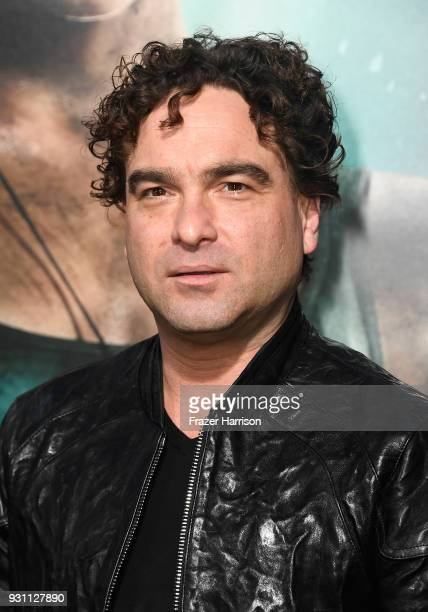 Johnny Galecki attends the premiere of Warner Bros Pictures' 'Tomb Raider' at TCL Chinese Theatre on March 12 2018 in Hollywood California