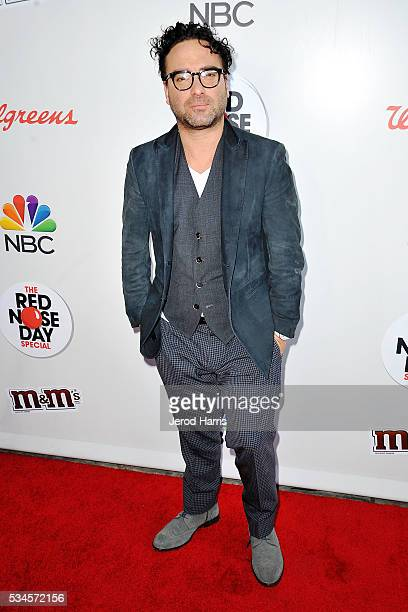 Johnny Galecki attends the Red Nose Day Special on NBC at Alfred Hitchcock Theater at Universal Studios on May 26 2016 in Universal City California