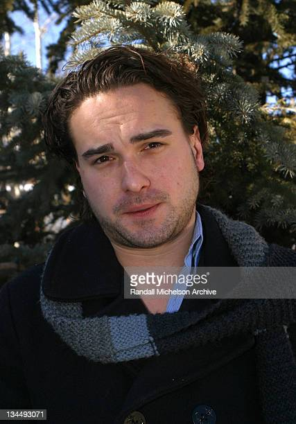 Johnny Galecki during 2003 Sundance Film Festival 'Bookies' Outdoor Portraits at Main Street Park City in Park City Utah United States