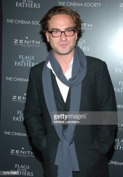 Johnny Galecki during 'Flags Of Our Fathers' Special New York Screening Presented By The Cinema Society and Zenith Watches at Tribeca Grand Hotel...