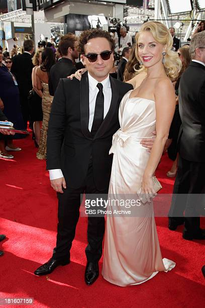 Johnny Galecki from The Big Bang Theory and guest on the red carpet for the 65th Primetime Emmy Awards which will be broadcast live across the...