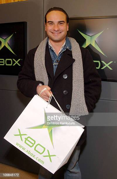 Johnny Galecki in front of Xbox during 2004 Park City Motorola Lodge at Motorolla House in Park City Utah United States