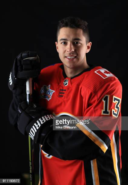 Johnny Gaudreau of the Calgary Flames poses for a portrait during the 2018 NHL AllStar at Amalie Arena on January 27 2018 in Tampa Florida