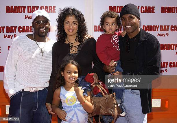 "Johnny Gil, Sugar Ray Leonard & family during ""Daddy Day Care"" Premiere Benefiting the Fulfillment Fund at Mann National - Westwood in Westwood,..."