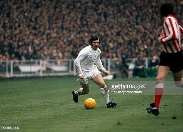 Johnny Giles in action for Leeds United during the FA Cup Final between Leeds United and Sunderland at Wembley Stadium in London on 5th May 1973...
