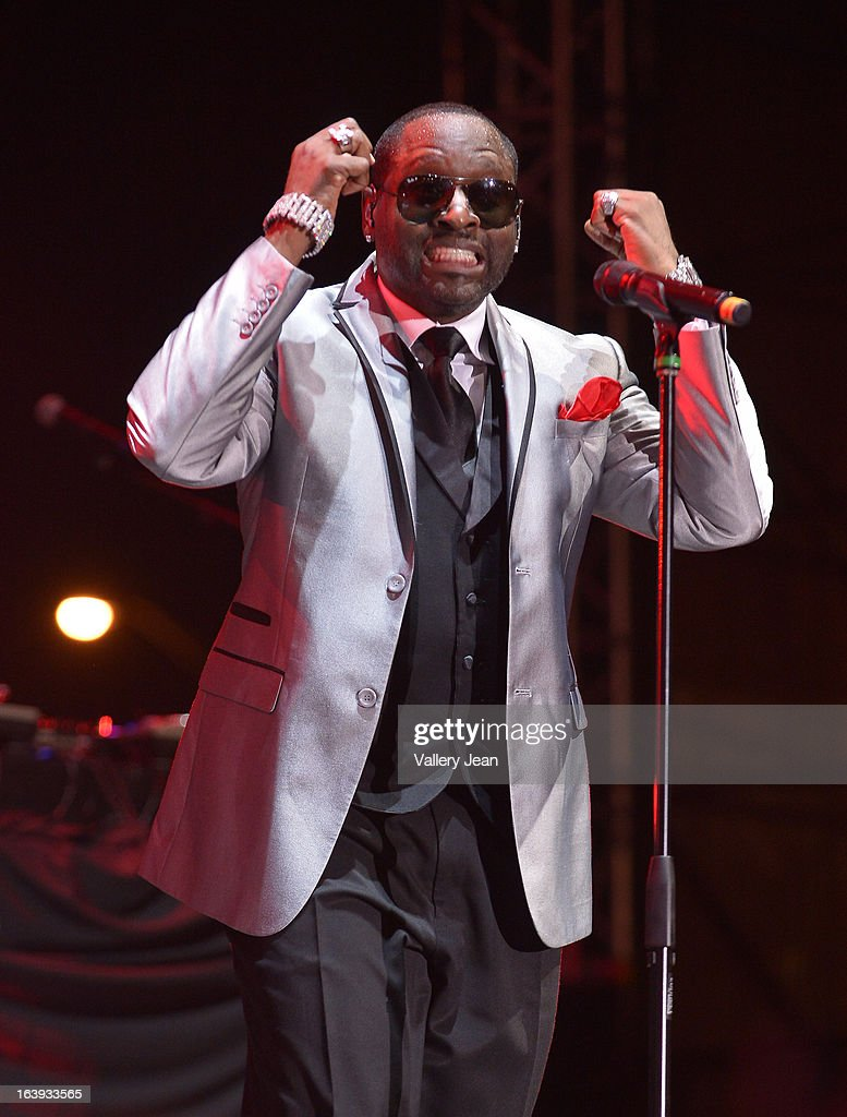 Johnny Gill of New Edition performs at Miami Gardens' 8th Annual Jazz In The Gardens Music Festival - Day 1 at Sun Life Stadium on March 16, 2013 in Miami Gardens, Florida.