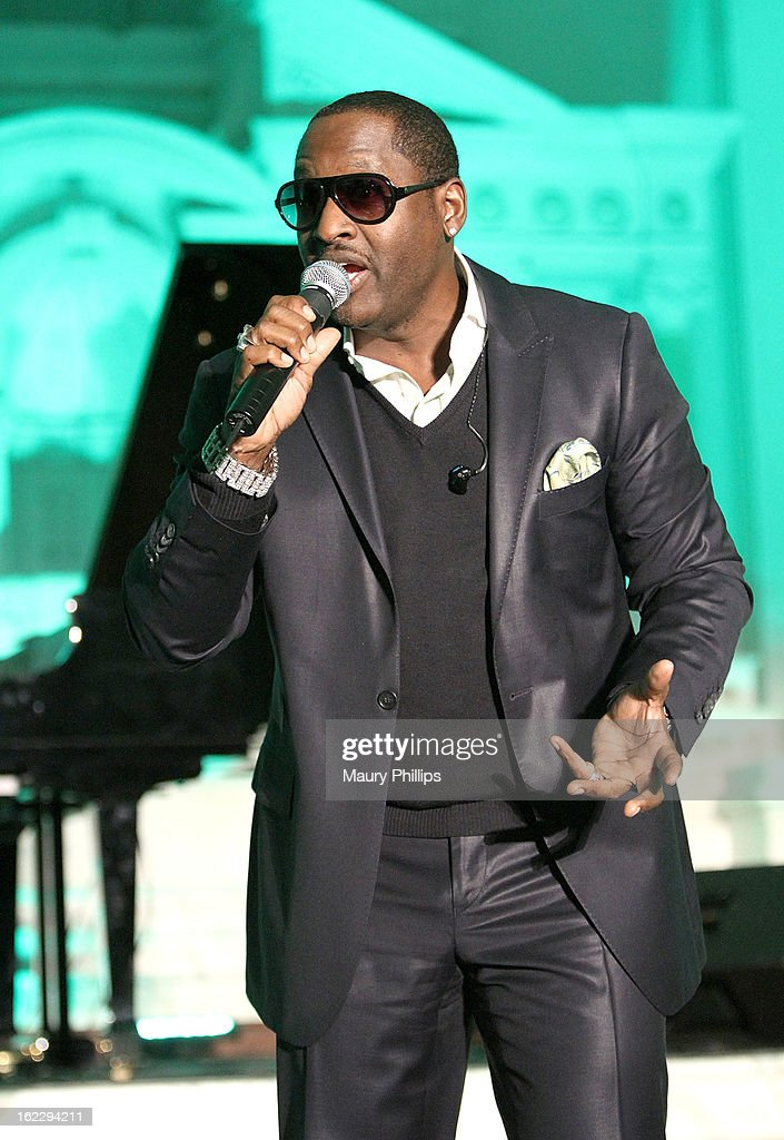 Johnny Gill performs during the Executive Preparatory Academy of Finance's 'Reason To Believe' Inaugural charity fundraising gala at Vibiana on February 20, 2013 in Los Angeles, California.