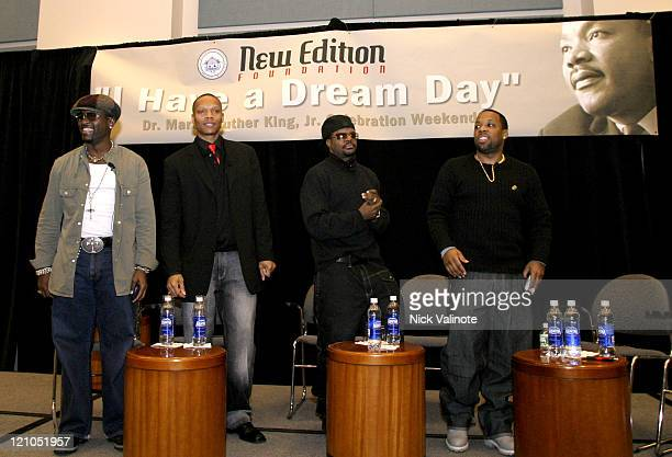 Johnny Gill Ronnie Devoe Ricky Bell and Michael Bivins of New Edition