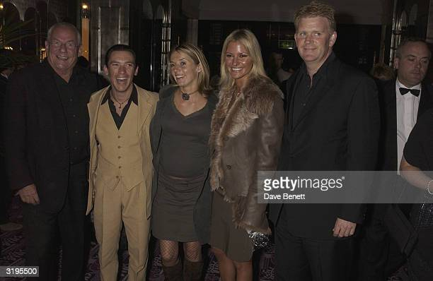 Johnny Gold Frankie Dettori and his wife Alex Best and Peter attend the UK Premiere of Sea Biscuit at Warner West End cinema followed by party at...