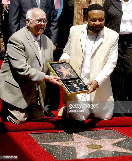 Johnny Grant and Andrae' Crouch during Gospel Artist Andrae Crouch Honored with a Star on the Hollywood Walk of Fame for His Achievements in Music at...