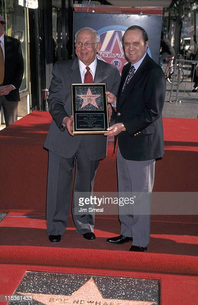 Johnny Grant and Bob Newhart during Bob Newhart Receives A Star On The Walk of Fame at Hollywood Boulevard in Hollywood California United States