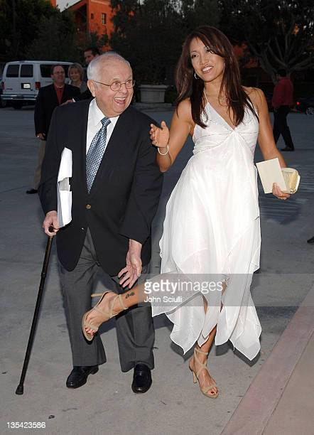 Johnny Grant and Carrie Ann Inaba during Grand Opening Of The Assistance League 'Leeza's Place' In Hollywood in Los Angeles CA United States