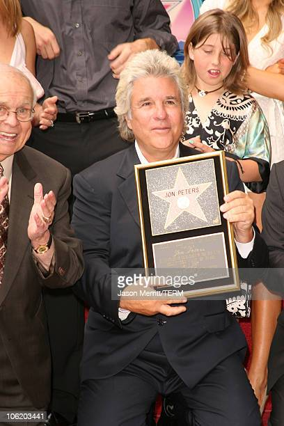 Johnny Grant and Jon Peters during Jon Peters Honored with a Star on the Hollywood Walk of Fame May 1 2007 at 6925 Hollywood Blvd in front of...