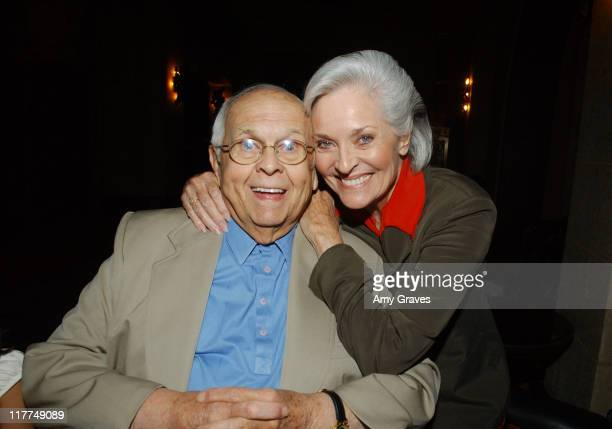 Johnny Grant and Lee Meriwether during Miss America 2007 Contestants Dinner Hosted by Hollywood Honorary Mayor Johnny Grant at Roosevelt Hotel in...