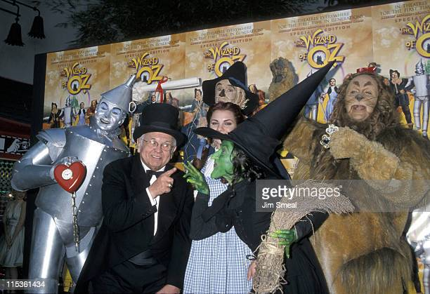 Johnny Grant and Wizard of Oz Characters during Hollywood Screening of the Restored Version of 'Wizard of Oz' at Mann's Chinese Theater in Hollywood...