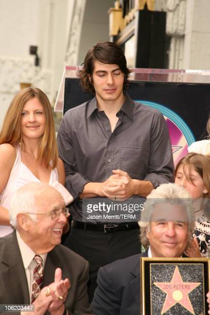 Johnny Grant Brandon Routh and Jon Peters during Jon Peters Honored with a Star on the Hollywood Walk of Fame May 1 2007 at 6925 Hollywood Blvd in...
